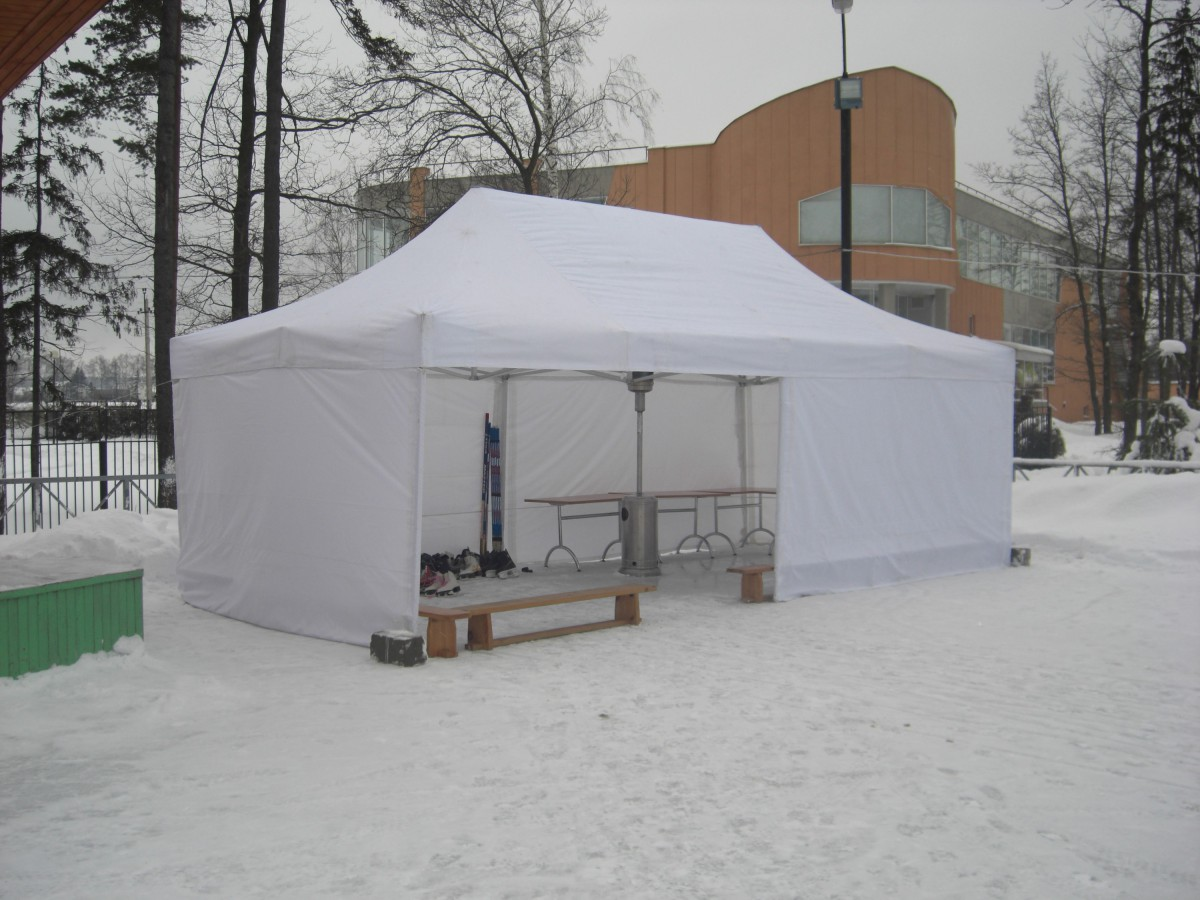 Аренда шатра зимой на крещенские купания